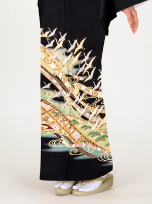 熨斗と鶴の留袖