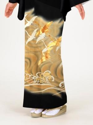 波に群鶴(ぐんかく)の留袖
