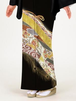 孔雀の羽根に熨斗の留袖