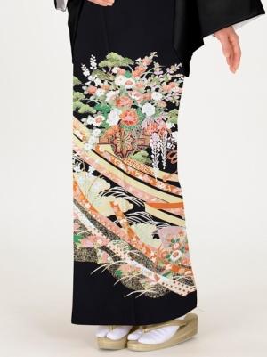 熨斗文様に花車の留袖