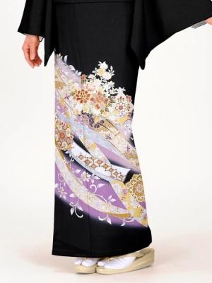 花車に熨斗の留袖